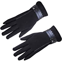 Sanwooden Practical Touch Screen Gloves Elegant Women Bowknot Winter Warm Gloves Touch Screen Full Finger Mittens Gift Winter Essential Gloves