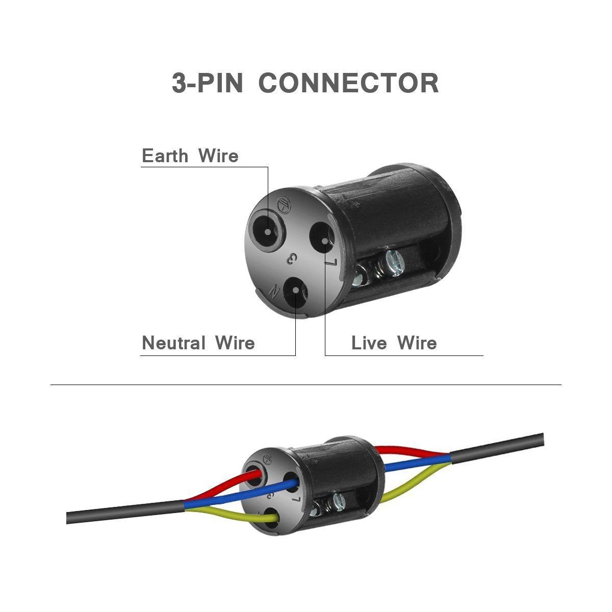 Kabelverbinder 450V IP68 Wasserdicht Verbindungsbox Verbindungsmuffe 2//3-polig