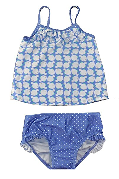 87a0993317 Amazon.com: Just One You Baby Girls Blue Whale Print One Piece ...