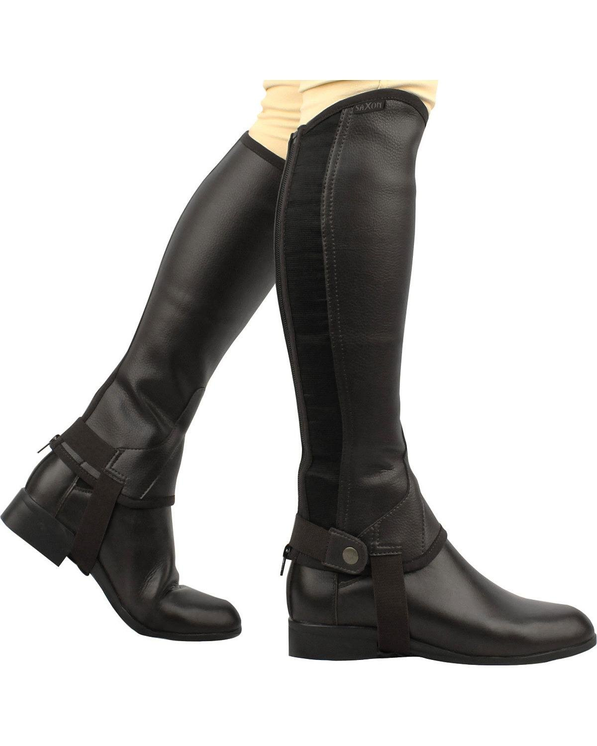 Saxon Botas de Mujer Equileather Tipo zahones, Talla XS, Color Negro Tjernlund Products Inc. 514357