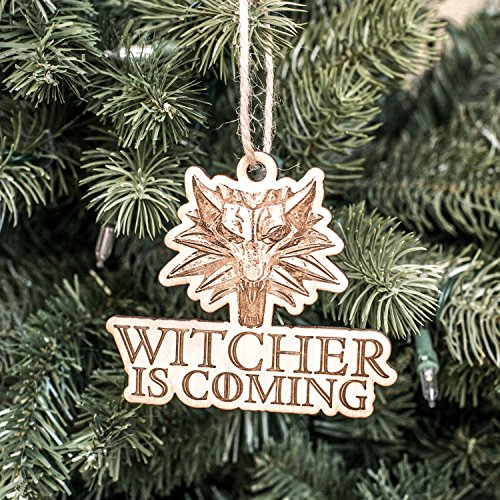 Ornament - Witcher is Coming - Raw Wood 4x3in