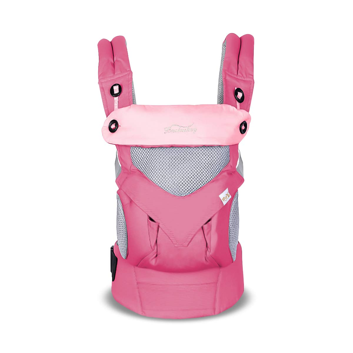 ,Maximum Load 20kg,Front Facing Baby Carrier,Suitable for Summer SONARIN 4 in 1 Breathable Baby Carrier,3D Breathable mesh,Sunscreen Hood,Ergonomic,for Newborn to Toddler Pink 3-48 Months