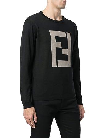 nouvelle arrivee 2fc81 54af9 Fendi - Pull - Homme Noir Noir: Amazon.fr: Vêtements et ...