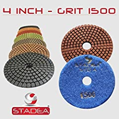 """Stadea Series Standard A, 4"""" diamond polishing Pads 1000 Grit 2 Pcs is a great value, professional grade starter pad for concrete polishing, granite polishing, marble polishing.Concrete Marble Granite Polishing It has outstanding finish on co..."""