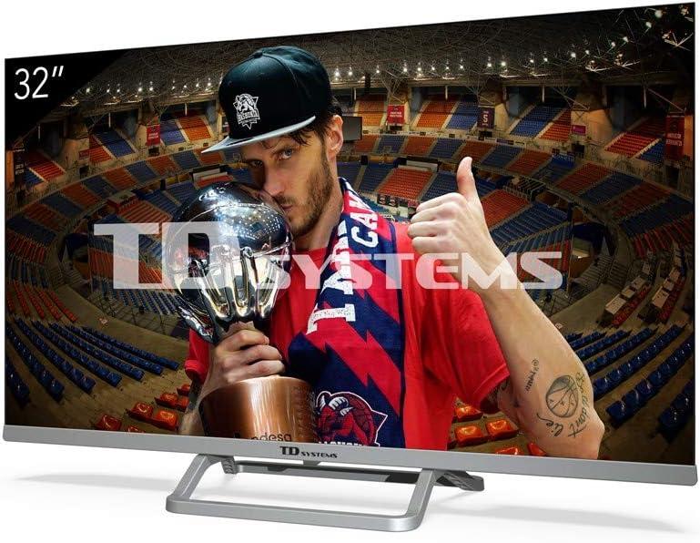 Televisiones Smart TV 32 Pulgadas Android 9.0 y HBBTV, 800 PCI Hz, 3X HDMI, 2X USB. DVB-T2/C/S2, Modo Hotel - Televisores TD Systems K32DLX11HS: Amazon.es: Electrónica