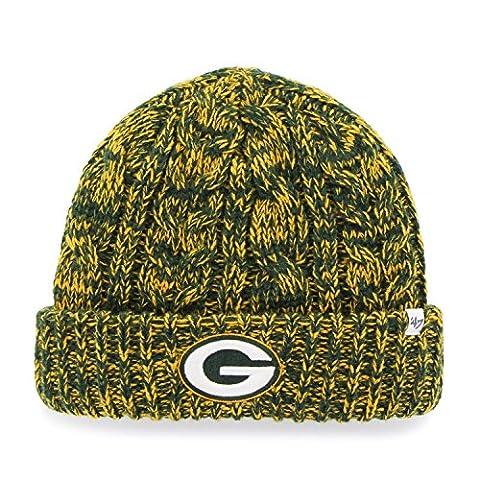 NFL Green Bay Packers Women's '47 Prima Cuff Knit Beanie, Dark Green (Green Bay Packers Hat Scarf)
