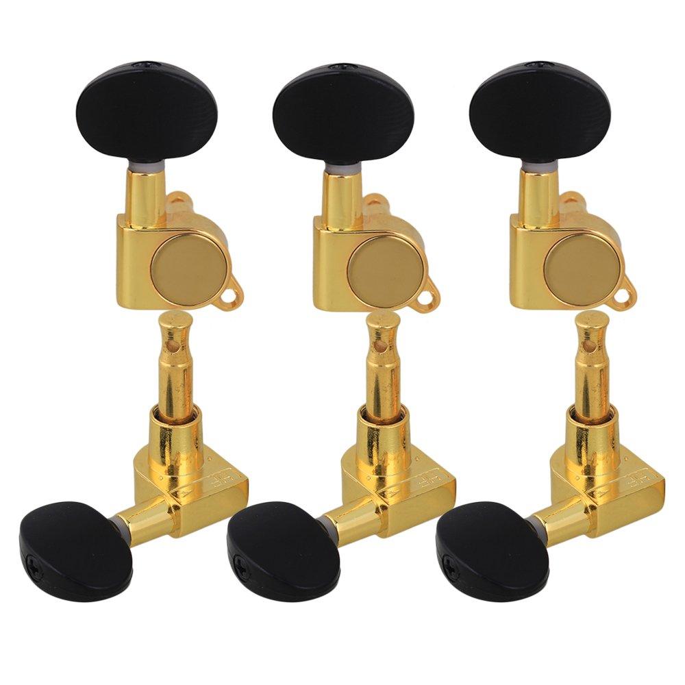 yibuy š¢mbar color guitarra clavijas Clavijas de oro cuerpo/š¢mbar botš®n 3R3L Pack de 6: Amazon.es: Instrumentos musicales