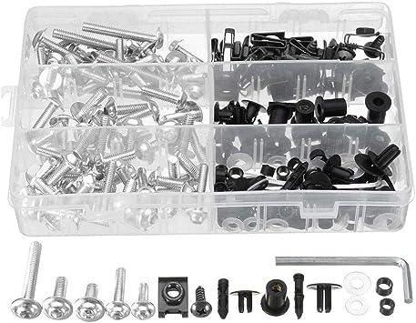 goforwealth 223 PCS Moto Car/énage Modifi/é Vis De Voiture Ensemble Couleur Clip Vis Vis Boulon Fixation Pare-Brise Redresseur Boulon Kit