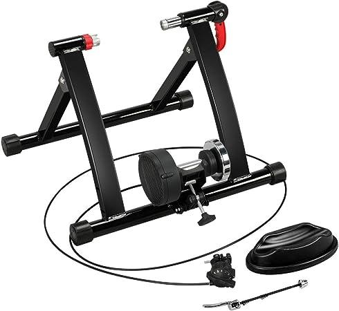 Yaheetech Rodillo Entrenamiento de Bicicleta 26 a 29 Pulgadas y 700C Rodillo Magnetico de Acero para Bici con 6 Niveles de Resistencia por Cable