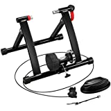 Yaheetech Magnetic Bike Trainer Stand w/ 6 Speed Level Wire Control Adjuster,Noise Reduction,Quick-Release & Front Wheel Rise
