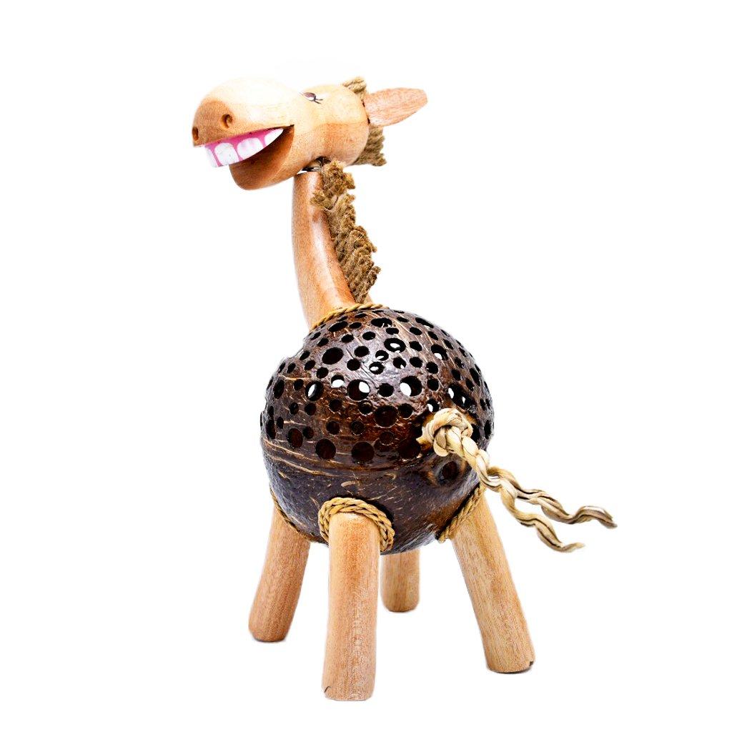 Coconut Shell Lamp – Horse Lamp night Wooden Crafts Handmade decorative …