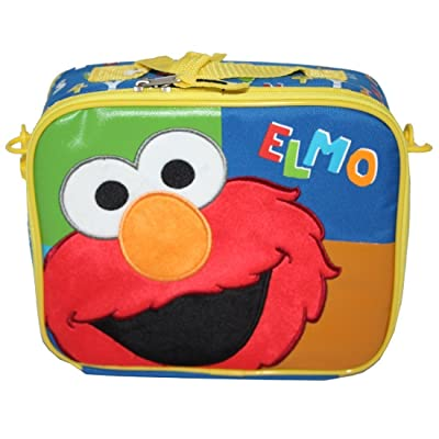 "Sesame Street Elmo Insulated Lunch Bag with Shoulder Strap ""Elmo"": Reusable Lunch Bags: Kitchen & Dining"