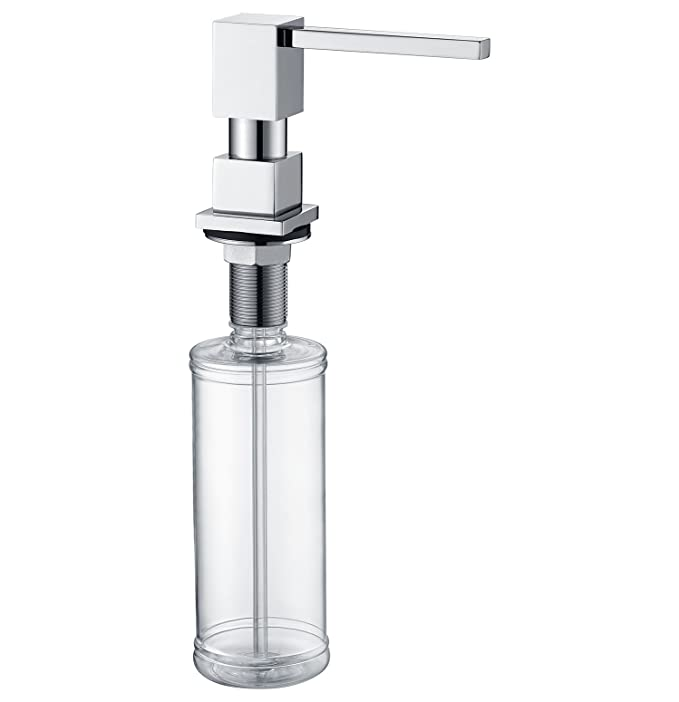 LAZADA Modern Chrome Built in Pump Kitchen Sink Dish Soap Dispenser, Dish Kitchen Soap Dispenser Pump - - Amazon.com
