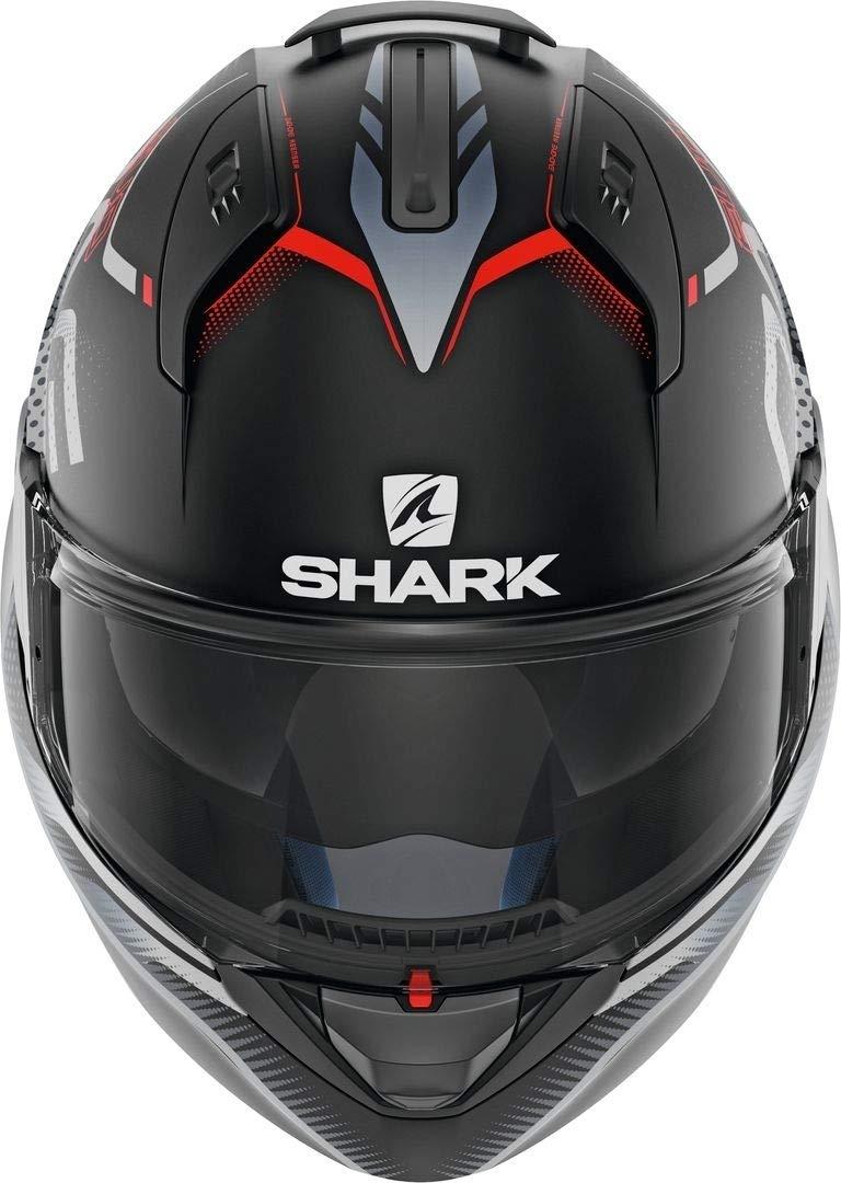 Noir//Gris//Rouge Shark Casque moto EVO-ONE 2 KEENSER MAT KSR XS
