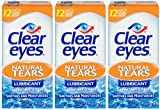 Clear Eyes Natural Tears Lubricant | Soothes and Moisturizes| 0.5 Ounce per Box | Pack of 3