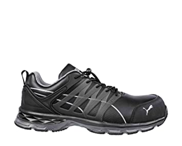 huge selection of 8b1be f2fc9 PUMA SAFETY 643840 VELOCITY 2.0 BLACK LOW S3 Herren Sicherheitsschuhe  Arbeitsschuhe Fiberglaskappe, sportlich, atmungsaktiv, schwarz 46 Schwarz