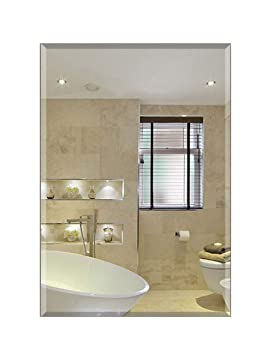 4b312406bb9a Simple Frameless Wall Bathroom Mirror Wall Hanging Bathroom Mirror ...