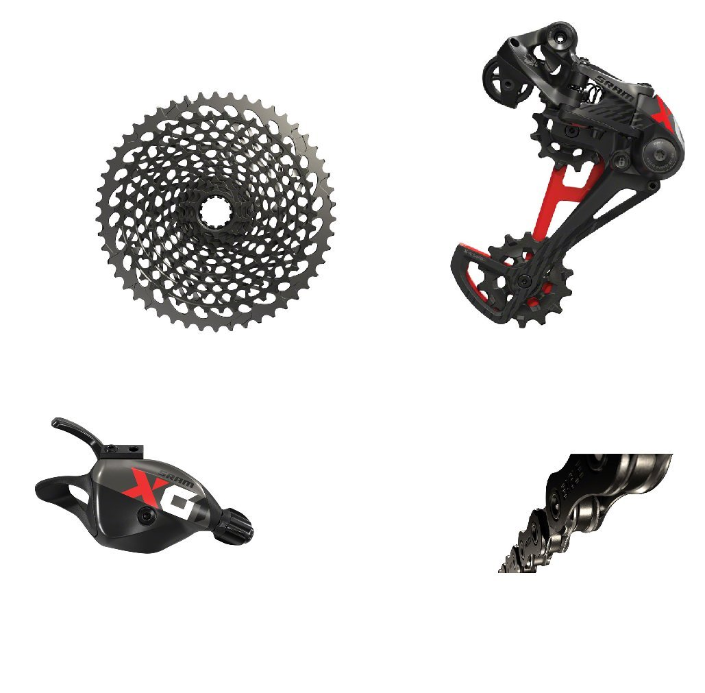 SRAM X01 Eagle Black/Red Groupset without Crankset