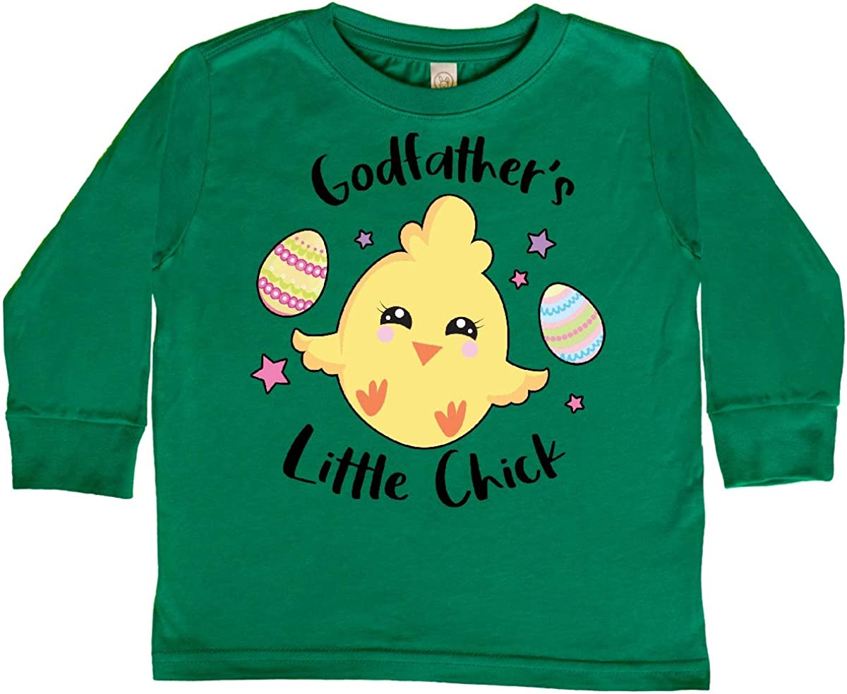 inktastic Happy Easter Godfathers Little Chick Toddler Long Sleeve T-Shirt