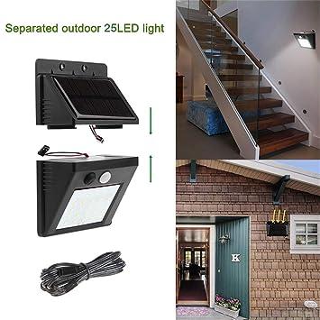 Surenhap Solar Garden Light lámpara de Pared LED Prueba de Agua al Aire Libre con Detector