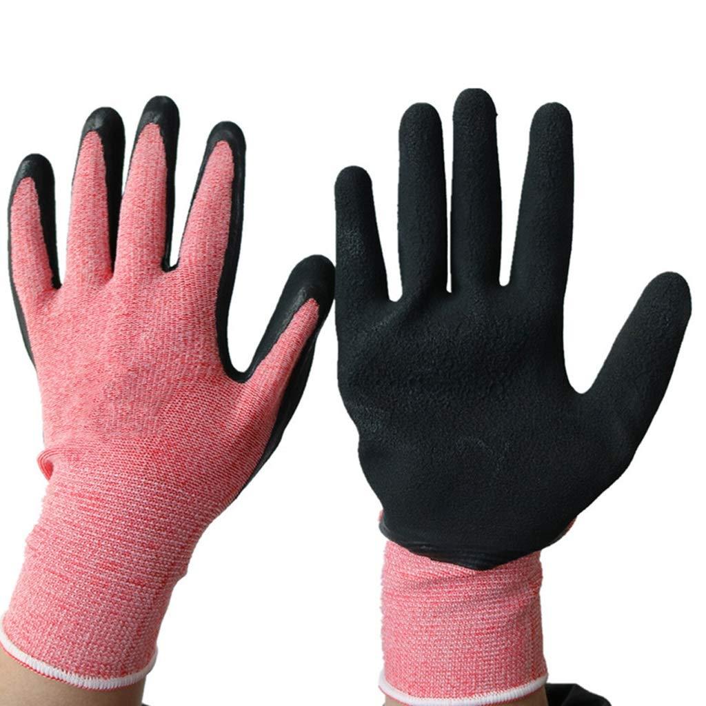 LDKFJH Industrial Gloves,Work Gloves for Women and Men ,Coated Seamless Knit Work Gloves Ideal for Gardening, Fishing, Heavy Duty Construction Gloves