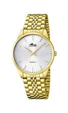 ebe44e7f2a53 Lotus Reloj Analógico para Hombre de Cuarzo con Correa en Acero Inoxidable  15885 2  Amazon.es  Relojes