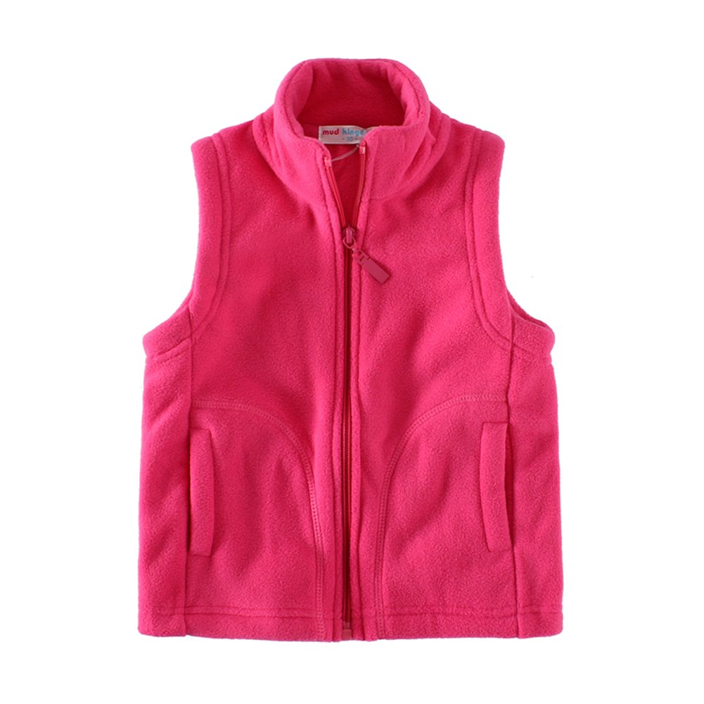 UWESPRING Kids Boys Girls Fleece Solid Vests Turtleneck Waistcoat Made in China