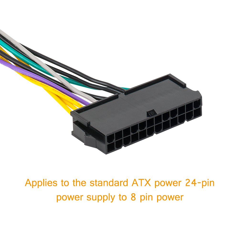 Atx Power Cable Vandesail 24 Pin To 8 Main This Standard Cord Is Commonly Usedby Pc Supplies And Many Supply Adapter For Dell 780 980 760 960 Workstation 1pack 30cm Computers