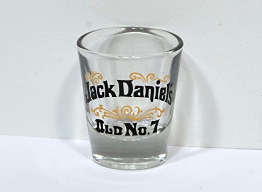 "JACK DANIEL/'S Tennessee Sour Mas Whiskey OLD NO.7 Shot Glass  2.25/"" Tall Daniels"