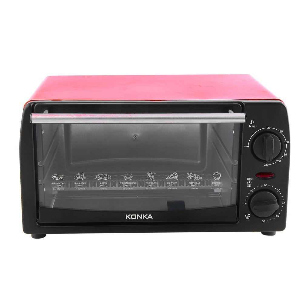 KONKA Electric Oven Home 12L Mini Baking Oven KAO-1202 1050W With Bakeware