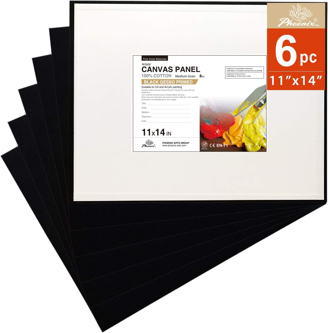 SplashNcolor Canvas Stands For Paint Pouring 4-Pack Black, 2 Inches Canvas Feet Risers For Acrylic Paint Pouring