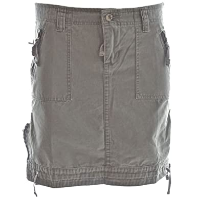 177ed63d350 Molecule Women s Urban Safari Tactical High Waist Grey Cargo Skirt -  Custom-fit Zips