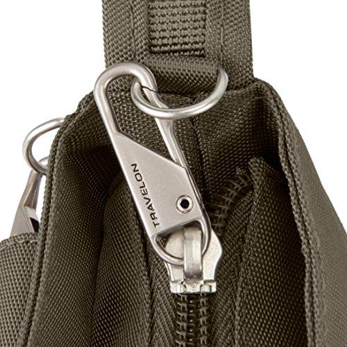 Travelon Women's Anti-theft Classic Mini Shoulder Bag Sling Tote, Nutmeg by Travelon (Image #4)