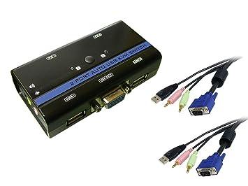 Kalea-Informatique – Distribuidor de periféricos de KVM Switch ratón + teclado + pantalla sobre