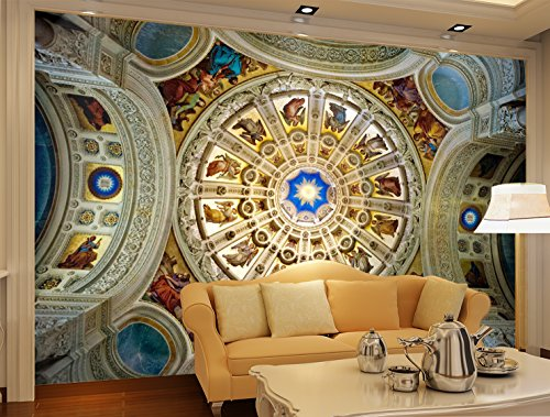 3D Luxury Ceiling 4 Wall Paper Print Decal Deco Indoor Wall Mural Self-adhesive Wallpaper AJ WALLPAPER US Carly (Vinyl (No Glue & Removable), XXXXL 520cm x 290cm (WxH)【205 inchesx114.2 inches】) by AJ WALLPAPER (Image #6)