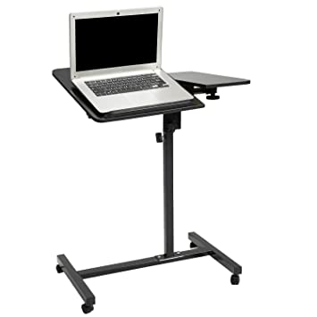 Honest Laptop Desk Mobile Desk Cart Height Adjustable Laptop Stand Cart Laptop Table Rolling Cart Home Office Computer Cart Desk Office Furniture Laptop Desks