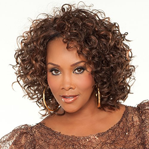 Vivica A. Fox HW370-V Synthetic Fiber, 3/4 Half Wig in Color GM832A ()
