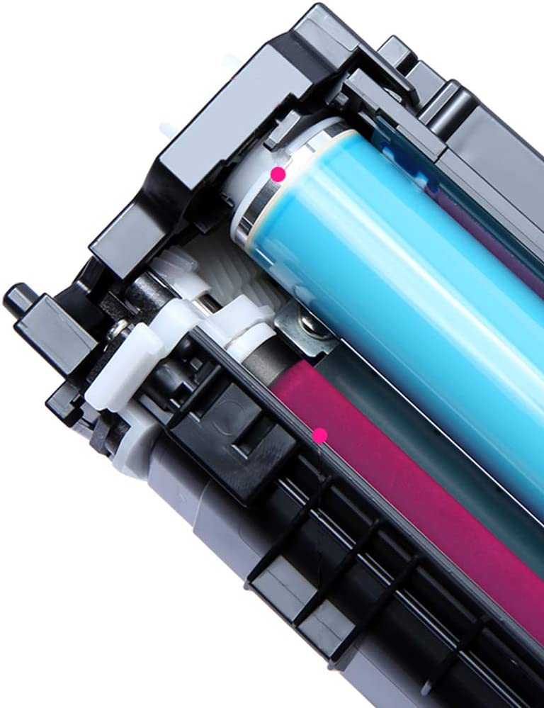 Compatible Toner Cartridge Replacement for Canon CRG 045 Lb9613cdw Lbp611cn .Ic Mf635cx Mf633cdw Mf631cn Color Laser MFP Printer with chip Black Cyan Yellow Magenta-Black