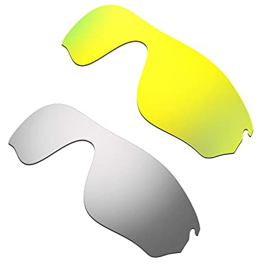 HKUCO Plus Mens Replacement Lenses For Oakley RadarLock Pitch - 2 pair 0n146xE