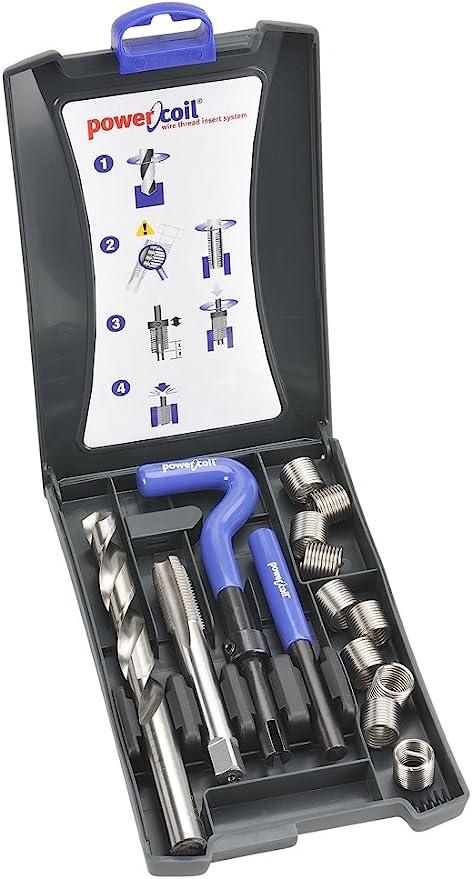 Kit di Riparazione del Filo 25Pz Strumento di Riparazione del Filo M7 Inserto per Vite Set di Punte per Trapano per Riparazione Automatica con Scatola di Plastica