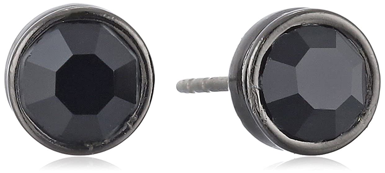 Amazon.com: 1928 Jewelry Black Faceted Stud Earrings: Black Stud Earrings For Men: Jewelry