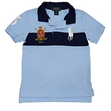 6b07de168e1 Amazon.com: Ralph Lauren Big Pony Cotton Mesh Polo Shirt Boys 2T-20 (XL  (18/20), Austin Blue/Deep Atlantic): Clothing