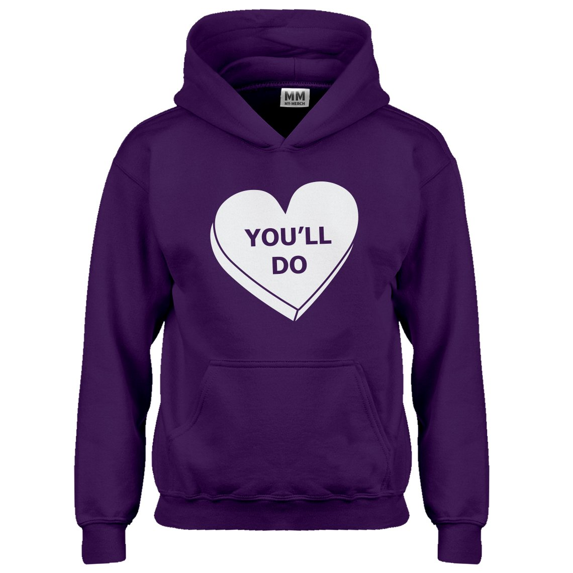 Indica Plateau Kids Hoodie You'll Do Valentines Day X-Small Purple Hoodie