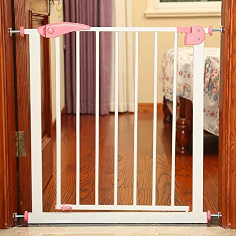 Puerta para bebés con puerta Puertas para bebés para escaleras Puertas para bebés para perros Cerca de bebés Parte superior de las puertas para bebés (Color: Rosa, Tamaño: 65-72cm): Amazon.es: Bebé
