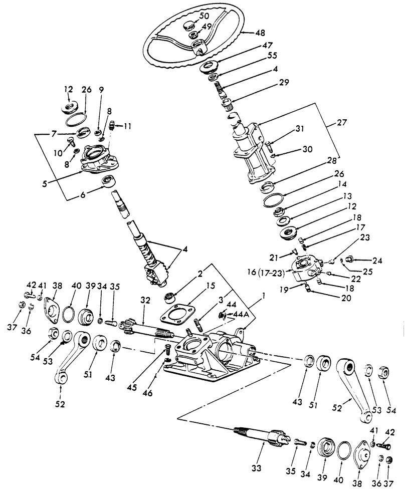 Steering Shaft Gear Box Rebuild Kit Ford 2310 2610 2910 3000 Distributor Cap Wiring Diagram 3610 3910 4110 Tractor Kitchen Dining