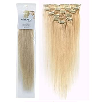 Amazon emosa luxury 100 real human hair clip in extensions emosa luxury 100 real human hair clip in extensions platinum blonde hair dye pmusecretfo Choice Image