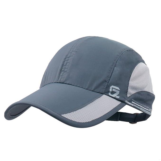 1d0d7ec7e40 GADIEMENSS Quick Dry Sports Hat Lightweight Breathable Soft Outdoor Running  Cap (Classic UP