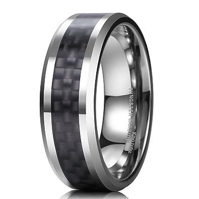 King Will GENTLEMENT 8mm Black Carbon Fiber Tungsten Carbide