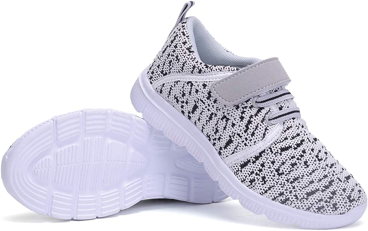 ZLXS Kids Lightweight Breathable Sneakers Casual Sport Running Shoes for Boys Girls