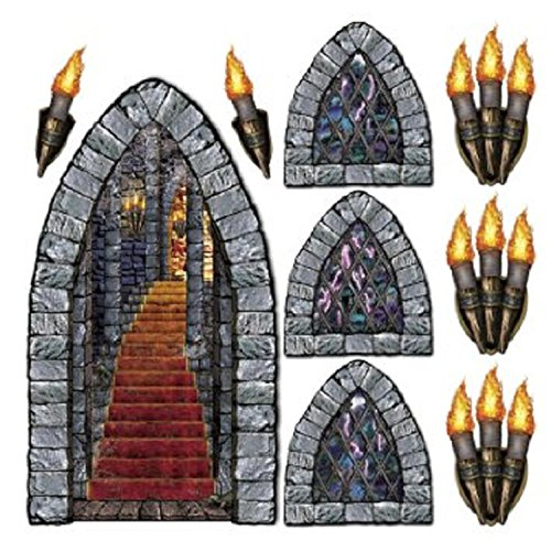 Club Pack of 108 Medieval Stone Insta-Theme Halloween Castle Prop -